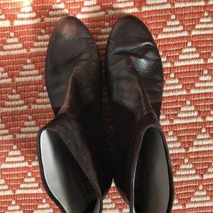 Aquatalia Suede & Leather Booties Size 12